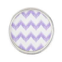 watercolor purple chevron zigzag pattern pin