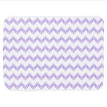 watercolor purple chevron zigzag pattern stroller blanket