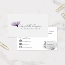 watercolor purple FLORAL business cards