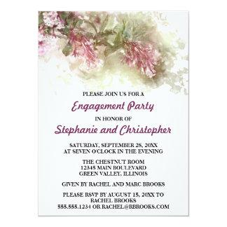 Watercolor Purple Jasmine Wedding Engagement Party Card