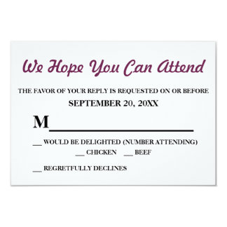 Watercolor Purple Jasmine Wedding RSVP Card