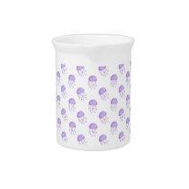 watercolor purple jellyfish beach design drink pitcher