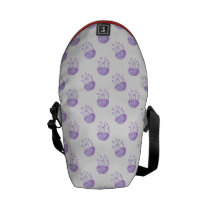 watercolor purple jellyfish messenger bag