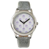 watercolor purple jellyfish wrist watch