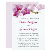 Watercolor Purple Orchid Wedding Invitations