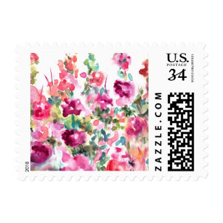 Watercolor Purple Postage Stamp