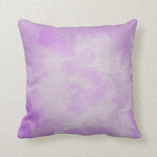 Watercolor Purple Throw Pillow
