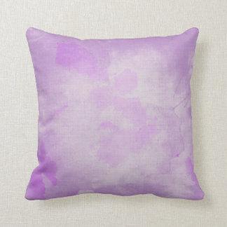 Watercolor Purple Throw Pillow