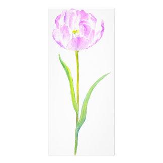 Watercolor Purple Tulip Mini Book Mark Rock Card
