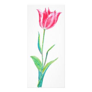 Watercolor Purple Tulip Mini Book Mark Rock Card Customized Rack Card