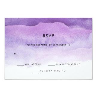 Watercolor Purple Waves | Wedding RSVP Response Card