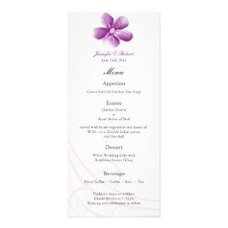 Watercolor Purple Wedding Menu Card Personalized Rack Card