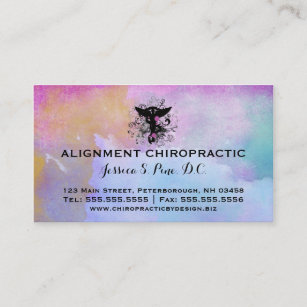Chiropractic business cards templates zazzle watercolor purples chiropractic business cards colourmoves