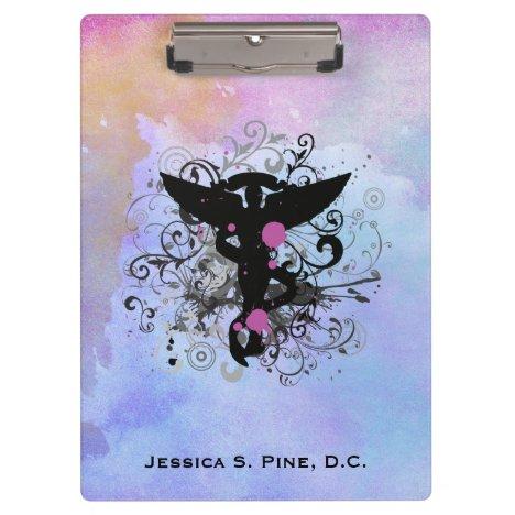 Watercolor {purples} Chiropractic Clipboard