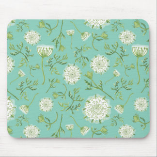 Watercolor Queen Anne's Lace Mouse Pad