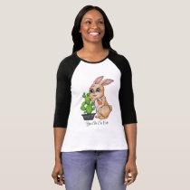 Watercolor Rabbit And Cute Cactus T-Shirt