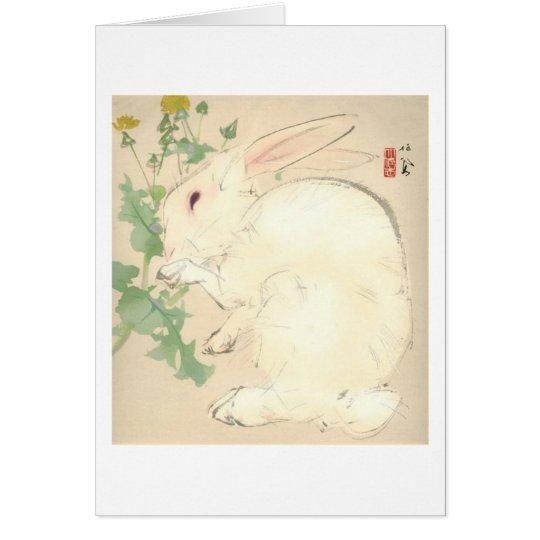 Watercolor Rabbit Card