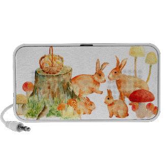 Watercolor Rabbit Family Mp3 Speaker