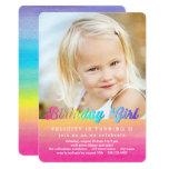 Watercolor Rainbow Birthday Party Invitation at Zazzle