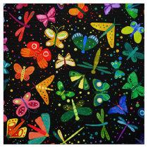 Watercolor Rainbow Butterflies Kids Pattern Fabric