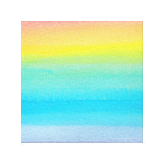 Watercolor Rainbow Design Gallery Wrapped Canvas
