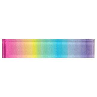 Watercolor Rainbow Design Desk Nameplates