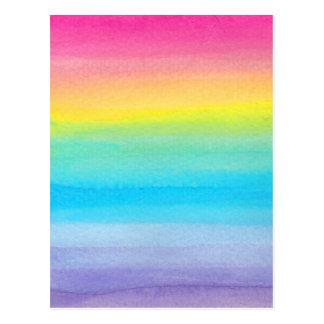 Watercolor Rainbow Design Postcard
