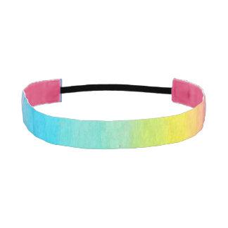 Watercolor Rainbow Elastic Headband Athletic Headbands
