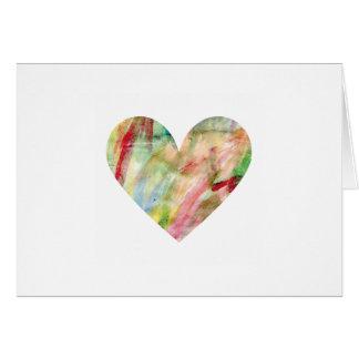 Watercolor Rainbow Heart Folded Greeting Card mp