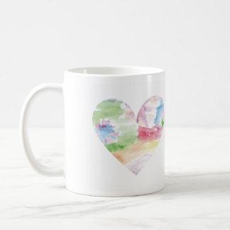 Watercolor Rainbow Heart Mug se