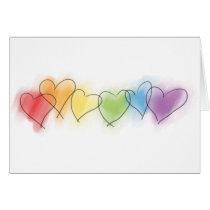 Watercolor Rainbow Hearts