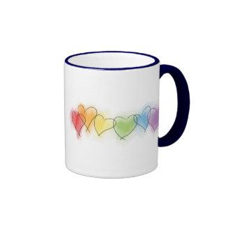 Watercolor Rainbow Hearts Mug