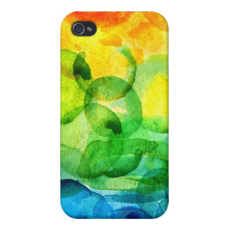watercolor rainbow iPhone 4 cover