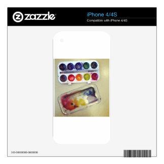 Watercolor Rainbow Paint Palette iPhone 4 Skin