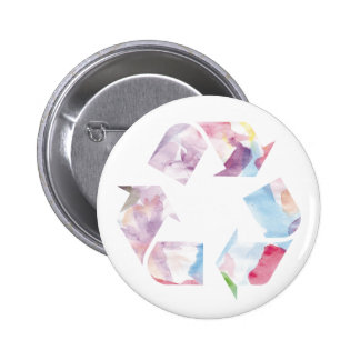 Watercolor Rainbow Recycle Button se