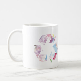 Watercolor Rainbow Recycle Mug se