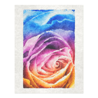 Watercolor Rainbow Rose Flyer