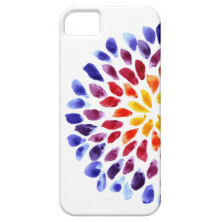 Watercolor rainbow stains iPhone 5 case