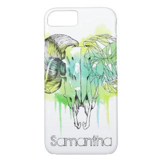 Watercolor Ram Skull iPhone 7 Case