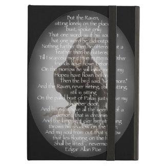 Watercolor Raven Edgar Allen Poe Poem Art iPad Air Cases