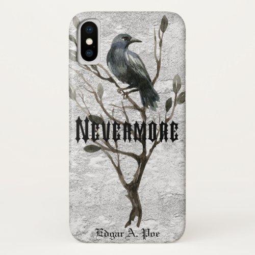 Watercolor Raven Nevermore iPhone X Case