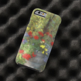 Watercolor Red and Blue Flowers Tough iPhone 6 Case