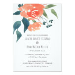 Watercolor Red Flowers Rehearsal Dinner Card