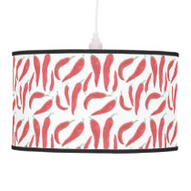 watercolor red hot chillies ceiling lamp