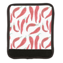 watercolor red hot chillies handle wrap