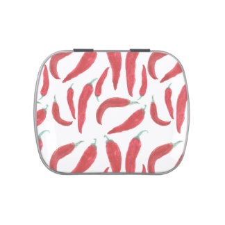 watercolor red hot chillies jelly belly candy tins