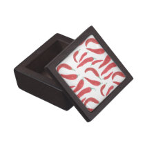 watercolor red hot chillies keepsake box