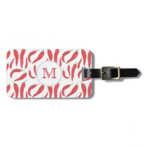 watercolor red hot chillies luggage tag