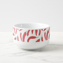 watercolor red hot chillies soup mug