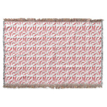 watercolor red hot chillies throw blanket